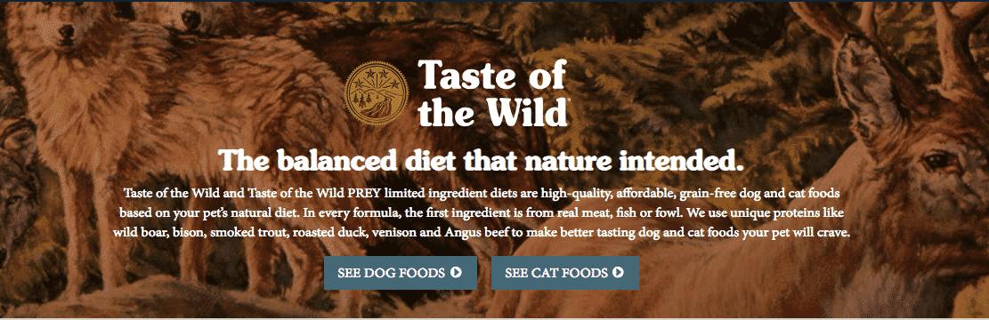 croquettes taste of the wild